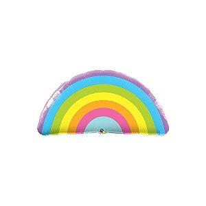 """Balão de Festa Microfoil 36"""" 90cm - Arco-íris Radiante - 01 Unidade - Qualatex - Rizzo Embalagens"""