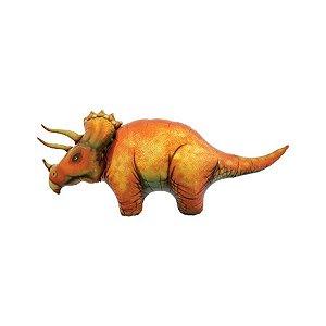 """Balão de Festa Microfoil 50"""" 127cm - Dinossauro Triceratops - 01 Unidade - Qualatex - Rizzo Embalagens"""