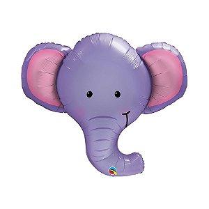 """Balão de Festa Microfoil 39"""" 99cm - Elefante - 01 Unidade - Qualatex - Rizzo Embalagens"""