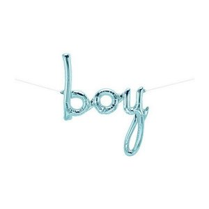"""Balão de Festa Microfoil 42"""" 107cm - Boy Pastel Azul - 01 Unidade - Qualatex - Rizzo Embalagens"""