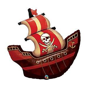 """Balão de Festa Microfoil 40"""" 101cm - Navio Pirata - 01 Unidade - Qualatex - Rizzo Embalagens"""
