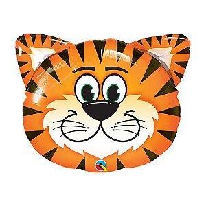 """Balão de Festa Microfoil 30"""" 76cm - Tigre - 01 Unidade - Qualatex - Rizzo Embalagens"""