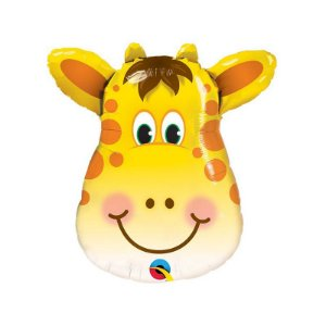 """Balão de Festa Microfoil 32"""" 81cm - Girafa - 01 Unidade - Qualatex - Rizzo Embalagens"""