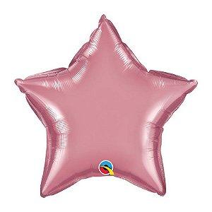 """Balão de Festa Microfoil 20"""" 51cm - Estrela Chrome Malva - 01 Unidade - Qualatex - Rizzo Embalagens"""