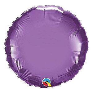 """Balão de Festa Microfoil 18"""" 45cm - Redondo Chrome Roxo - 01 Unidade - Qualatex - Rizzo Embalagens"""