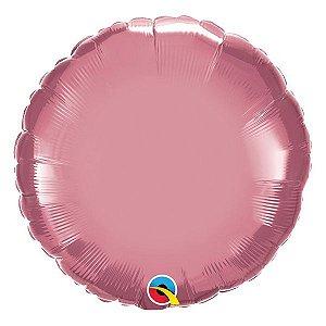 """Balão de Festa Microfoil 18"""" 45cm - Redondo Chrome Malva - 01 Unidade - Qualatex - Rizzo Embalagens"""