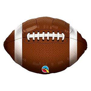 """Balão de Festa Microfoil 18"""" 45cm - Redondo Futebol Americano - 01 Unidade - Qualatex - Rizzo Embalagens"""