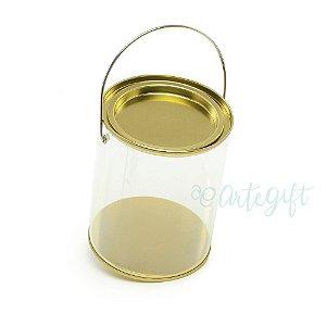 Lata Alça G Ouro - 9x11,5cm - 04 unidades - Artegift - Rizzo Embalagens