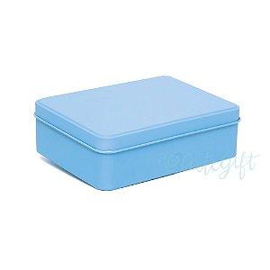 Lata Retangular para Lembrancinha Azul - 12x9x4cm - 06 unidades - Artegift - Rizzo Embalagens