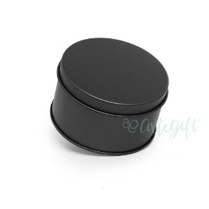 Lata Redonda para Lembrancinha Preta - 7,5x4cm - 06 unidades - Artegift - Rizzo Embalagens