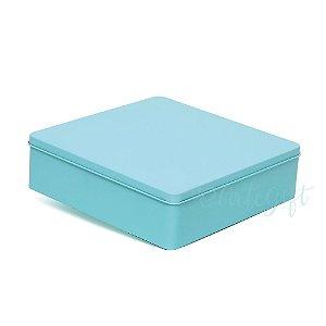 Lata Quadrada para Lembrancinha Tiffany G - 19,5x5,5cm - 01 unidade - Artegift - Rizzo Embalagens