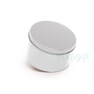 Lata Redonda para Lembrancinha Prata - 7,5x4cm - 06 unidades - Artegift - Rizzo Embalagens