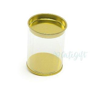 Tubo Lata Ouro - 8,5x6,3cm - 06 unidades - Artegift - Rizzo Embalagens