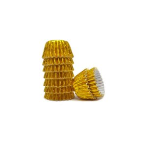 Forminha de Papel Laminado Ouro N° 5 com 50 unidades - Junco - Rizzo Embalagens