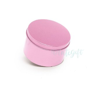 Lata Redonda para Lembrancinha Rosa - 10x4cm - 01 unidade - Artegift - Rizzo Embalagens
