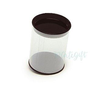 Tubo Lata Preto - 8,5x6,3cm - 06 unidades- Artegift - Rizzo Embalagens