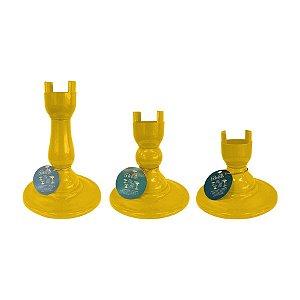 Base Pé Boleira - Amarelo - Só Boleiras - Rizzo Embalagens