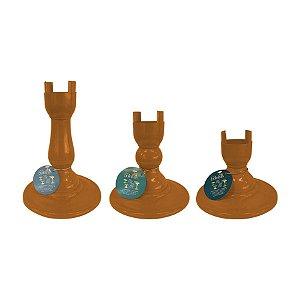 Base Pé Boleira - Mostarda - Só Boleiras - Rizzo Embalagens
