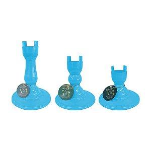 Base Pé Boleira - Azul Céu - Só Boleiras - Rizzo Embalagens