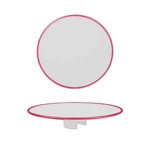 Tampo Boleira - Rosa Neon Clean - Só Boleiras - Rizzo Embalagens