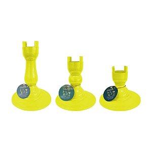 Base Pé Boleira - Amarelo Neon - Só Boleiras - Rizzo Embalagens
