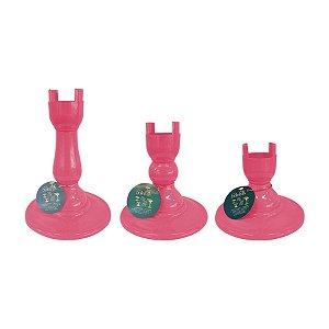 Base Pé Boleira - Rosa - Só Boleiras - Rizzo Embalagens
