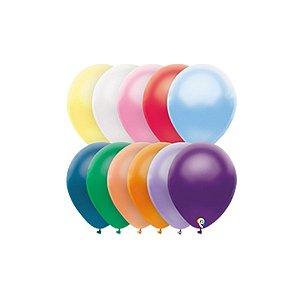 Balão de Festa Látex - Sortido Cintilante - Sensacional - Rizzo Embalagens
