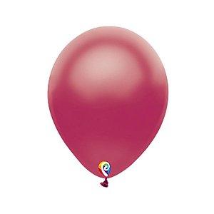 Balão de Festa Látex - Vinho Cintilante - Sensacional - Rizzo Embalagens