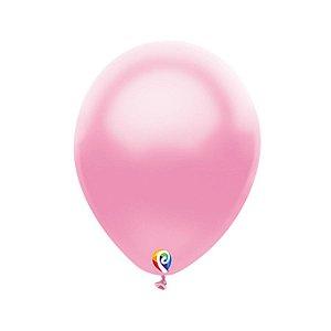 Balão de Festa Látex - Rosa Cintilante - Sensacional - Rizzo Embalagens