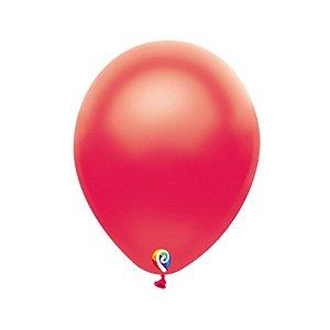 Balão de Festa Látex - Vermelho Cintilante - Sensacional - Rizzo Embalagens