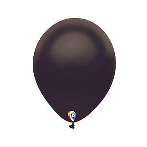 Balão de Festa Látex - Preto Cintilante - Sensacional - Rizzo Embalagens