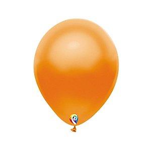Balão de Festa Látex - Laranja Cintilante - Sensacional - Rizzo Embalagens