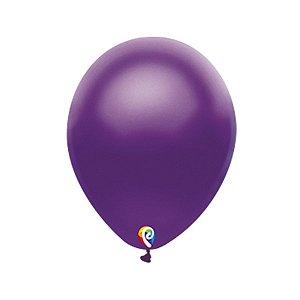 Balão de Festa Látex - Roxo Cintilante - Sensacional - Rizzo Embalagens