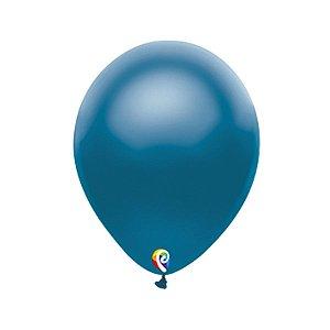 Balão de Festa Látex - Azul Cintilante - Sensacional - Rizzo Embalagens