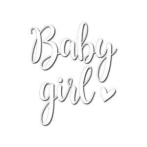 Transfer Para Balão Lettering Branco - Baby Girl - 01 Unidade - Cromus Balloons - Rizzo Embalagens