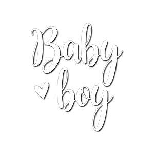 Transfer Para Balão Lettering Branco - Baby Boy - 01 Unidade - Cromus Balloons - Rizzo Embalagens