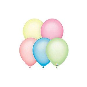 Balão de Festa Látex - Sortido Neon - Sensacional - Rizzo Embalagens