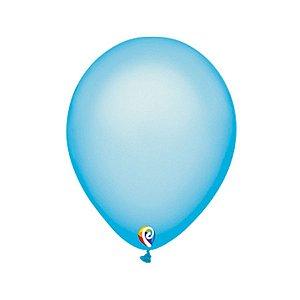 Balão de Festa Látex - Azul Neon - Sensacional - Rizzo Embalagens