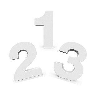 Numero MDF Branco com 12cm de Altura - Rizzo Embalagens