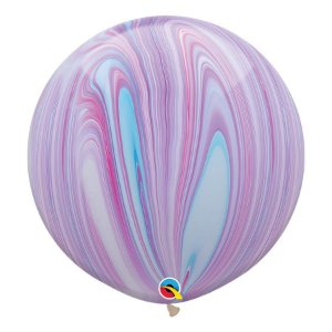 "Balão de Festa Látex Liso Superagate 30"" 76cm - Fashion - 01 Unidade - Qualatex - Rizzo Embalagens"