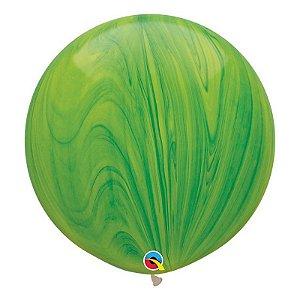 """Balão de Festa Látex Liso Superagate 30"""" 76cm - Verde - 01 Unidade - Qualatex - Rizzo Embalagens"""