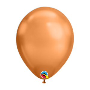 Balão de Festa Látex Liso Chrome - Cobre - Qualatex - Rizzo Embalagens