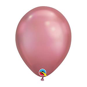 Balão de Festa Látex Liso Chrome - Malva - Qualatex - Rizzo Embalagens