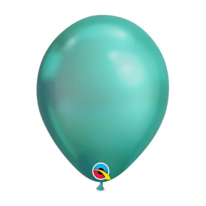Balão de Festa Látex Liso Chrome - Verde - Qualatex - Rizzo Embalagens