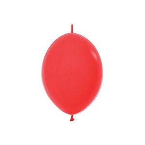 """Balão de Festa Link-o-Loon 12"""" 28cm - Vermelho - 50 Unidades - Sempertex - Rizzo Embalagens"""