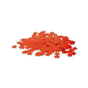 Confete Metálico Estrela para Balão Pacote com 100g 2cm - Vermelho - 01 Unidade - Cromus Balloons - Rizzo Embalagens