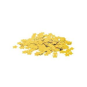 Confete Metálico Estrela para Balão Pacote com 100g 2cm - Ouro - 01 Unidade - Cromus Balloons - Rizzo Embalagens