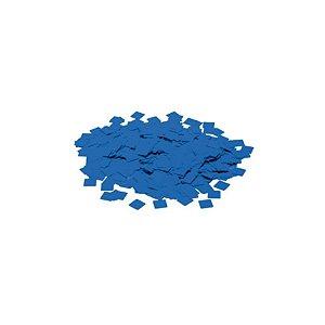 Confete Metálico Quadrado para Balão Pacote com 100g 1cm - Azul - 01 Unidade - Cromus Balloons - Rizzo Embalagens