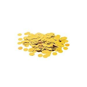 Confete Metalico Redondo para Balão Pacote com 100g - Ouro - 01 Unidade - Cromus Balloons - Rizzo Embalagens