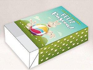 Caixa Divertida Páscoa Coelho Jardim 1 Ref. 870 para 6 doces - 10 unidades - Erika Melkot - Rizzo Embalagens